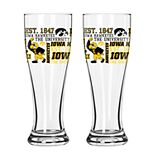 Boelter Iowa Hawkeyes Spirit Pilsner Glass Set