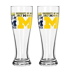Boelter Michigan Wolverines Spirit Pilsner Glass Set