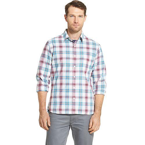 Men's Van Heusen Never Tuck Printed Slim-Fit Shirt