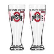 Boelter Ohio State Buckeyes Spirit Pilsner Glass Set