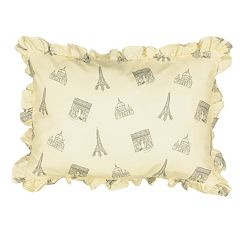 Waverly Spree Mapped Out Ruffle Decorative Pillow