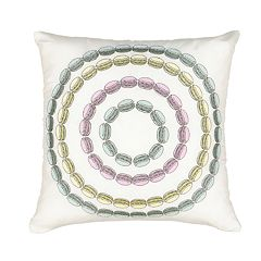 Waverly Spree Mapped Out Macaron Novelty Decorative Pillow