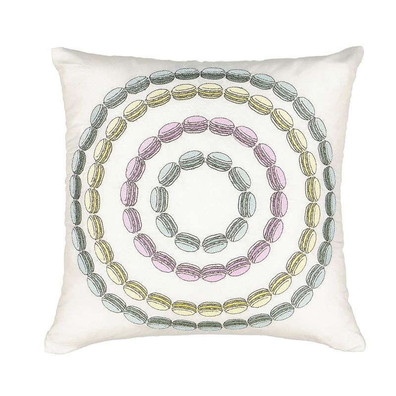 Waverly Spree Mapped Out Macaron Novelty Decorative Pillow, Lt Green, Fits All
