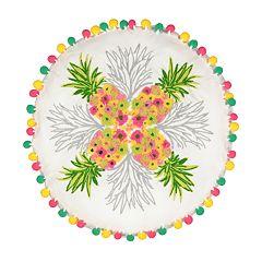 Waverly Spree Santa Maria Pineapple Pom Pom Decorative Pillow