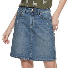 2f5da02cd Women's SONOMA Goods for Life™ A-Line Denim Skirt