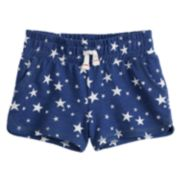 Baby Girl Jumping Beans® Patriotic French Terry Shorts