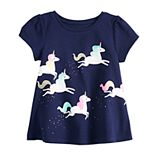 Baby Girl Jumping Beans® Graphic Swing Top