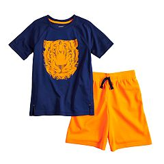 Boys 4-12 Jumping Beans® Tiger Graphic Tee & Active Short Set
