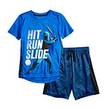 "Boys 4-12 Jumping Beans® Baseball ""Hit Run Slide"" Active Graphic Tee & Shorts Set"