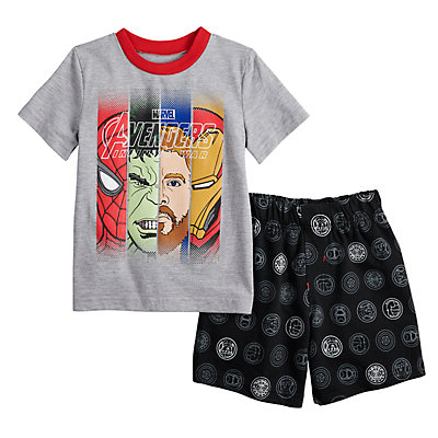 Boys 4-7 Avengers Shorts and Shirt Set