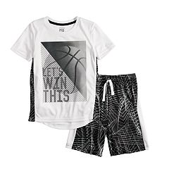 Boys 4-12 Jumping Beans® Basketball 'Let's Win This' Graphic Tee & Abstract Shorts Set