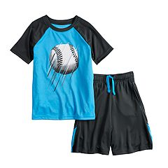 Boys 4-12 Jumping Beans® Baseball Raglan Graphic Tee & Shorts Set