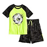 Boys 4-12 Jumping Beans® Soccer Raglan Graphic Tee & Shorts Set