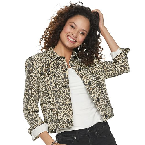 Juniors' Mudd® Printed Jean Jacket