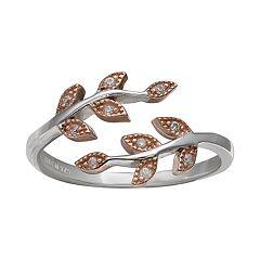 PRIMROSE Two-Tone Cubic Zirconia Vine Ring