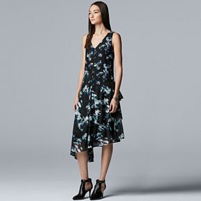 Women's Simply Vera Vera Wang Asymmetrical Ruffle Dress