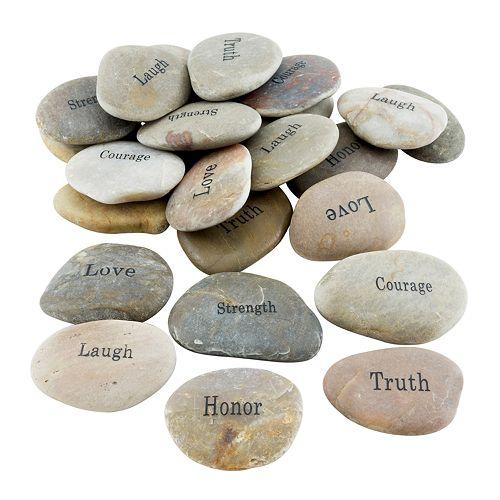 Stonebriar Inspirational Stone Table Decor 25-piece Set