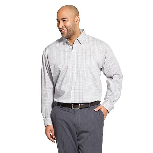Van Heusen Mens Slim Fit Flex Long Sleeve Button Down Stretch Tattersal Shirt