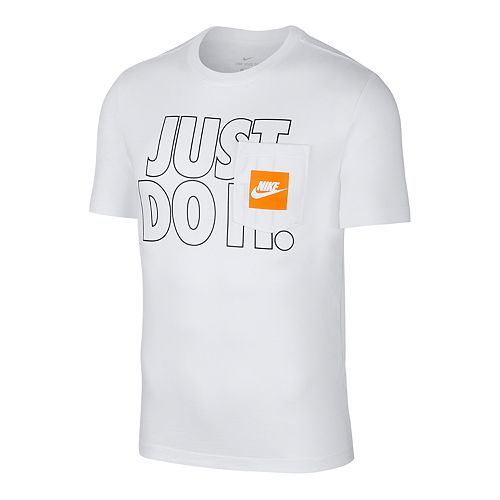 Men's Nike Just Do It Outline Short Sleeve Pocket Tee