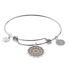 love this life 'Wildflower' Charm Bangle Bracelet
