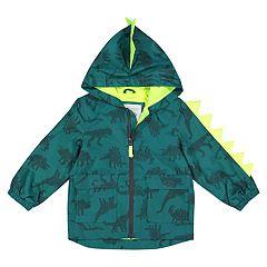 Boys 4-7 Carter's Dinosaur Hooded Lightweight Rain Jacket