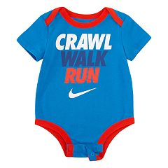 Baby Boy Nike 'Crawl Walk Run' Bodysuit