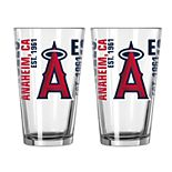 Boelter Los Angeles Angels of Anaheim Spirit Pint Glass Set