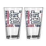 Boelter St. Louis Cardinals Spirit Pint Glass Set