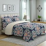 Peach & Oak Tribal Medallion Comforter Set