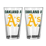 Boelter Oakland Athletics Spirit Pint Glass Set