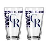 Boelter Colorado Rockies Spirit Pint Glass Set