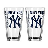 Boelter New York Yankees Spirit Pint Glass Set