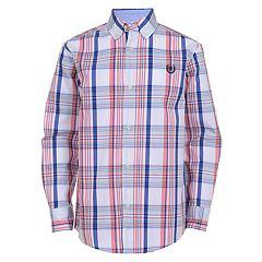 Boys 4-20 Chaps Judah Plaid Button-Down Shirt