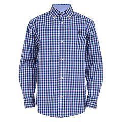 Boys 4 20 Chaps Judah Plaid Button Down Shirt