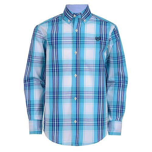 395130518 Boys 4-20 Chaps Judah Plaid Button-Down Shirt