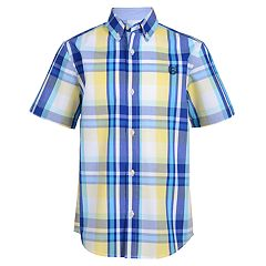 Boys 4-20 Chaps Aden Plaid Button-Down Shirt