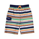 Boys 4-7 Skechers Multi Stripe Swim Trunks