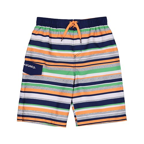 Boys 4-7 Skechers Multi Stripe Swim Trunks
