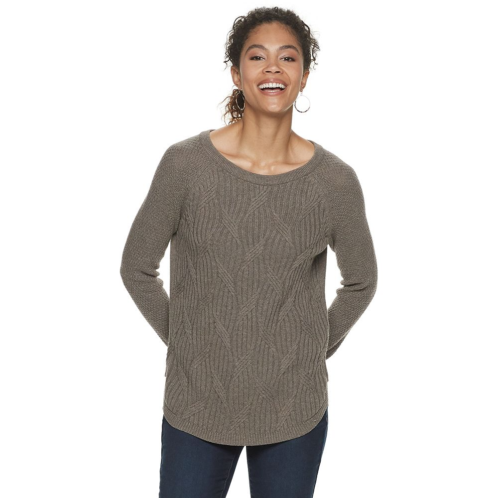 Women's SONOMA Goods for Life™ Twisted Cable-knit Pullover Sweater