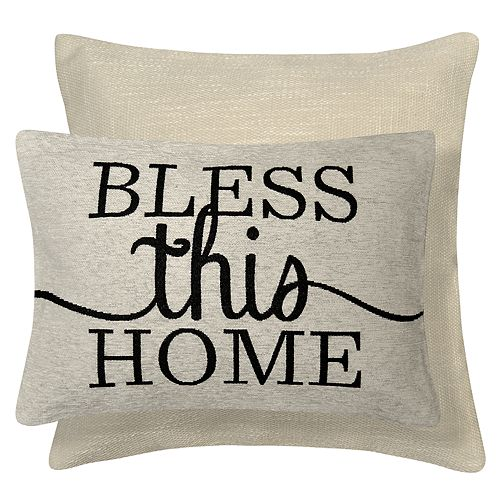 Spencer Home Decor Bless this Home 2-pack Throw Pillow Set