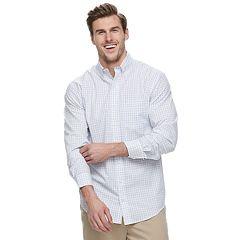 Big & Tall IZOD Premium Essentials Classic-Fit Plaid Button-Down Shirt