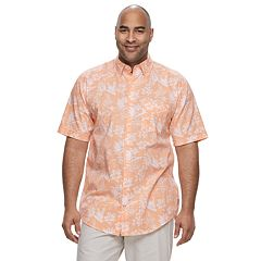 Big & Tall IZOD Saltwater Dockside Patterned Chambray Button-Down Shirt