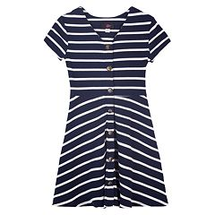 Girls 7-16 IZ Amy Byer Striped Fit & Flare Dress