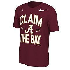 Men's Nike Alabama Crimson Tide 2018 College Football Playoffs Claim the Bay Tee