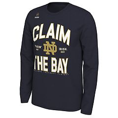 Men's Nike Notre Dame Fighting Irish 2018 College Football Playoffs Claim the Bay Long-Sleeve Tee