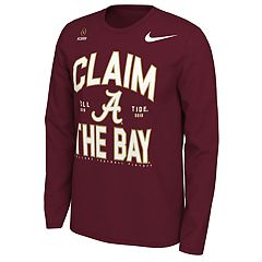5b9732fb Men's Nike Alabama Crimson Tide 2018 College Football Playoffs Claim the  Bay Long-Sleeve Tee