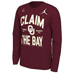 1d93ea54 Men's Nike Oklahoma Sooners 2018 College Football Playoffs Claim the Bay  Long-Sleeve Tee