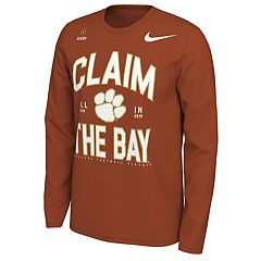 9089de2c Men's Nike Clemson Tigers 2018 College Football Playoffs Claim the Bay  Long-Sleeve Tee