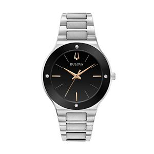 Bulova Men's Millenia Diamond Accent Stainless Steel Watch - 96E117