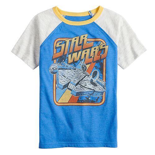 Boys 4-12 SONOMA Goods for Life™ Star Wars Retro Raglan Tee
